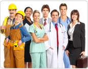 Canamex solutions for various industries - Group of workers from mixed occupations.